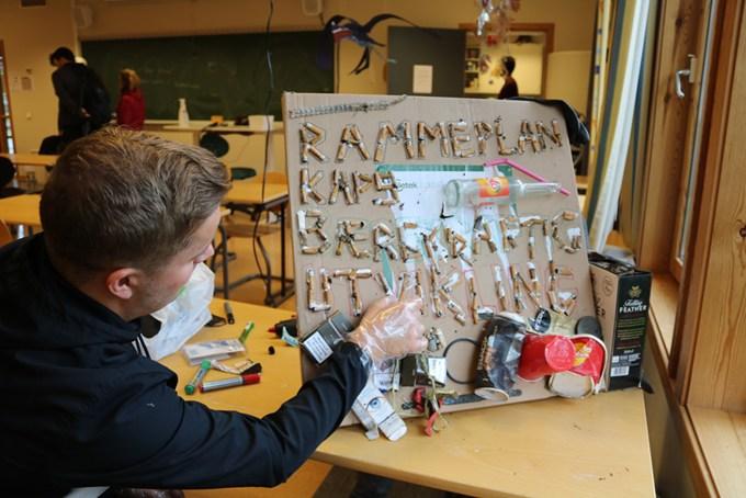 DMMH student har laget rammeplanen i søppel